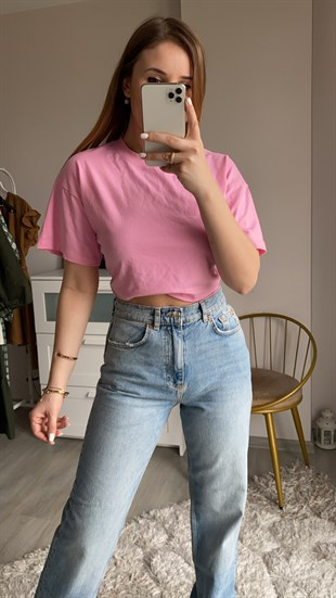 Bikbok Pembe Basic Crop