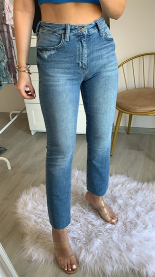 Stendal Kesik Paça Mom Fit Jean